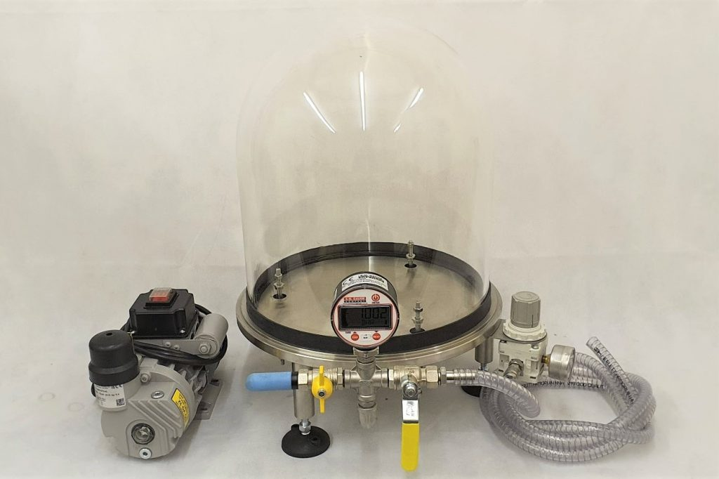electrical test bell jar system